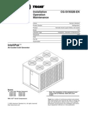 Chiller Trane Manual | Building Automation | Gas Compressor