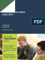 FTSE100 Social Media Index 2013