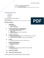 Site Visit Report Template