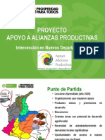 Alianzas Productivas Nuevos Departamentos