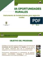 Oportunidades Rurales 2013