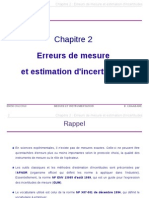 Estimation Incertitudes