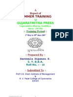A Report of SUMMER TRAINING At GUJARATMITRA PRESS