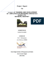 Project on Traininproject on training and development