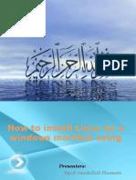Presentation installing linux using virtual box