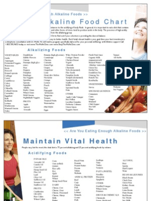 japanese alkaline diet food chart pdf