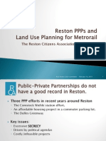 Reston PPPs and Metro Land Use Presentation to International Visitors, Feb. 15, 2013