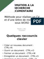 17314079 Rediger Son Cv Avec Word Methodologie