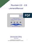 Water Fountain Series 2 Manual