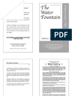 Water Fountain Owner Manual