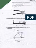 Soal UAS statika struktur, 2010