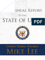 Senator Mike Lee's 2012 Annual Report to the State of Utah