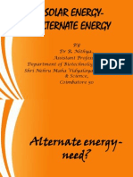 Solar Energy-Alternate Energy
