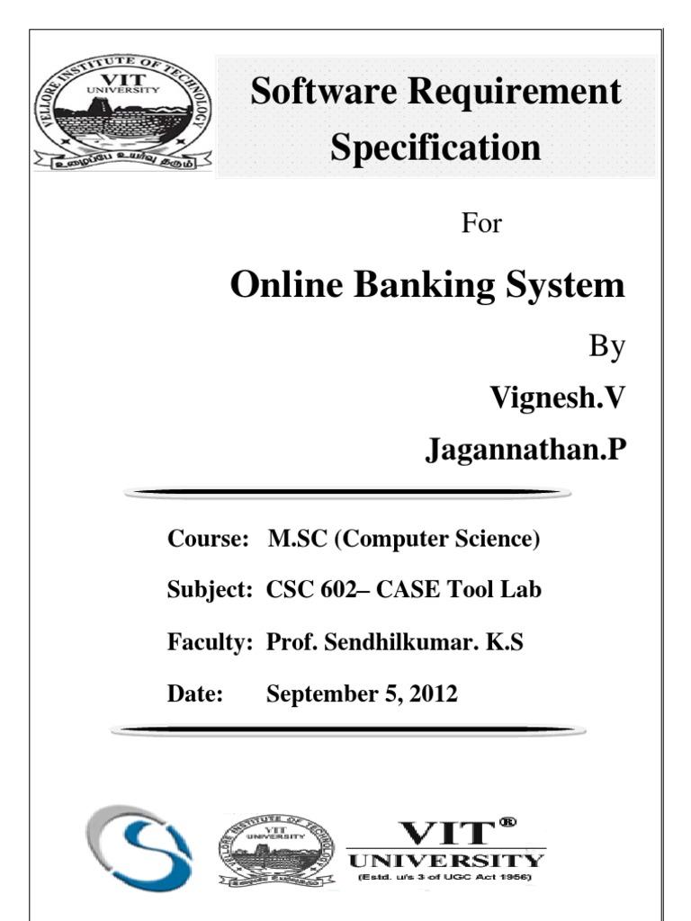 online banking srs hyperlink server computing - Er Diagram For Online Banking System