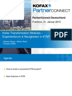 3.2_Kofax Partner Connect 2013_Transformation Modules _Advanced Track and What is New in KTM