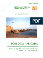 Ecología Aplicada. Vol. 1