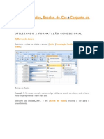 Barras de Dados, Escalas de Cor e Conjunto de ícones.