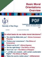 Basic Moral Orientations