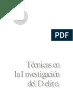Técnicas en Investigación del Delito - Consejo Nacional de la Judicatura