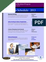 Employment Readiness Class Schedule 2013