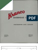 Kranco Overhead Cranes c1970