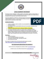 Becas Fulbright Postgrado - Flyer Convocatoria 2014-2015
