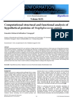 Computational Structural and Functional Analysis