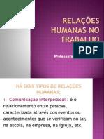 AULA_CLASSIFICAÇÃO DE RELAÇÕES HUMANAS