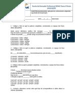 Teste de Conhecimento (Redação Empresarial 2)
