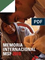 Memoria Internacional 2010 Medicos Sin Fronteras