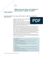 HÉBERT, TOURIGNY,  CYR,  MCDUFF, JOLY 2009 Prevalence of Childhood Sexual Abuse and Timing of Disclosure in a Representative Sample of Adults From Quebec