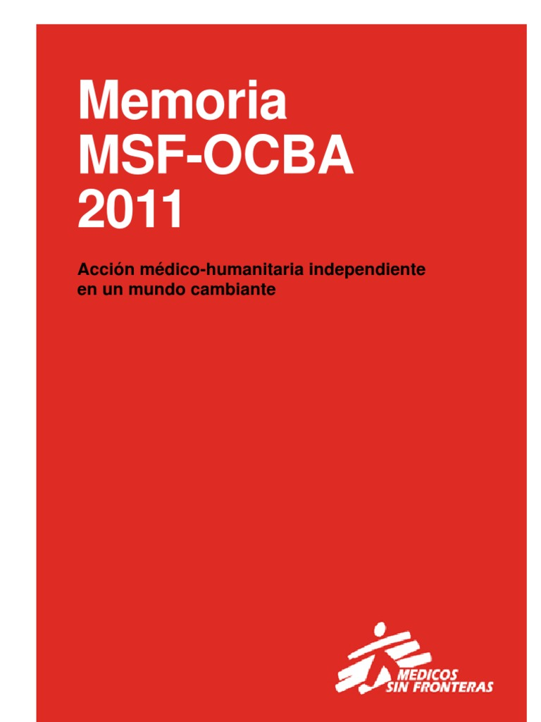 Memoria Msf-ocba 2011