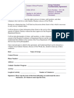 Volunteer Group Confidentiality Agreement Form 1011-58