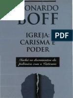 0005 Boff, Leonardo - Igreja Carisma e Poder