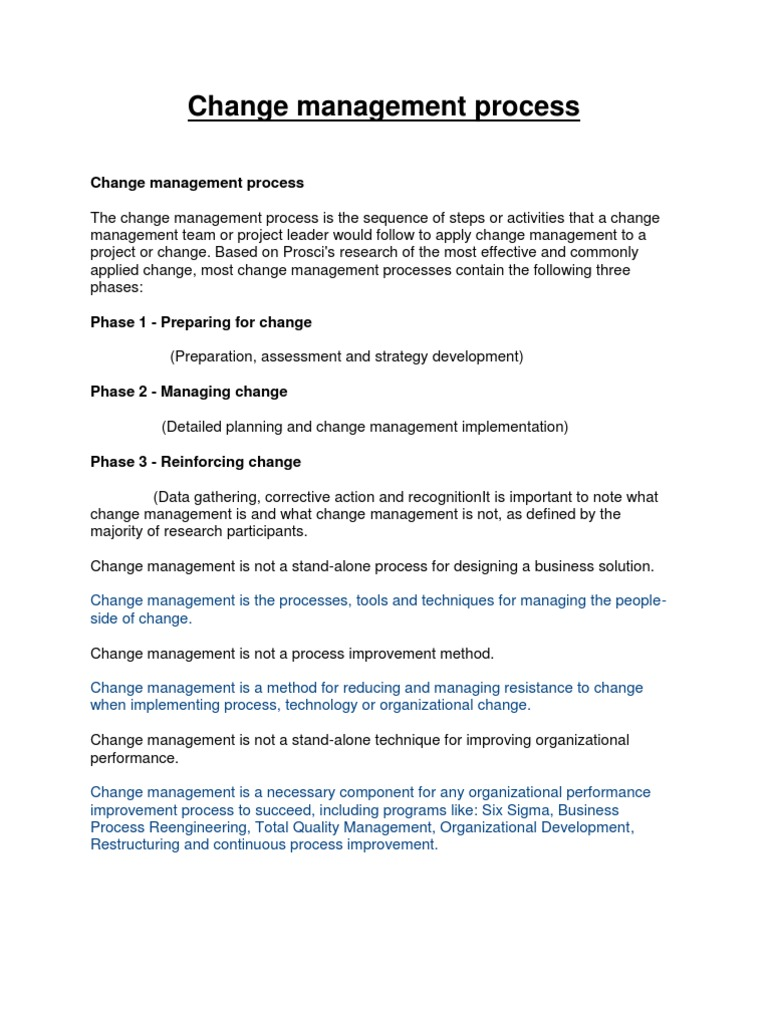 six images of managing change