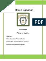 Manual de Primeros Auxilios - Instituto Zapopan Completo