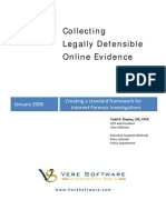 Collecting Legally Defensible Online Evidence