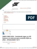[XBOX 360] GUIA – Instalando jogos no HD