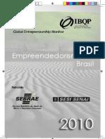 Relatorio GEM - Empreendedorismo No Brasil 2010