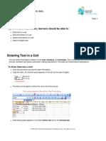 Excel 2003 3.Enter, Edit and Delete Data
