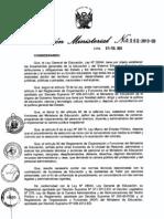 Directiva de Contrato de Auxiliares 2013