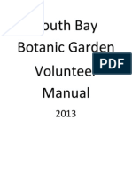 South Bay Botanic Garden Volunteer Manual