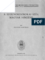 A Szolnokbodokai Szek Magyar Himzesei