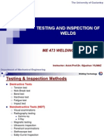 Testing and Inspection of Welds