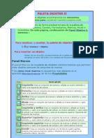 Paleta de objetos, título de páginas, texto
