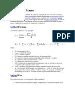 Fórmula de Mason