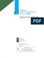 RELATÓRIO DESENVOLVIMENTO HUMANO [PNUD - 2005]
