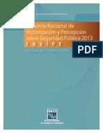 Manual e Envipe 2013