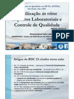 Controle de Qualidade Anvisa 2012