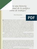 Rosanvallon- Historia Conceptual de Lo Politico